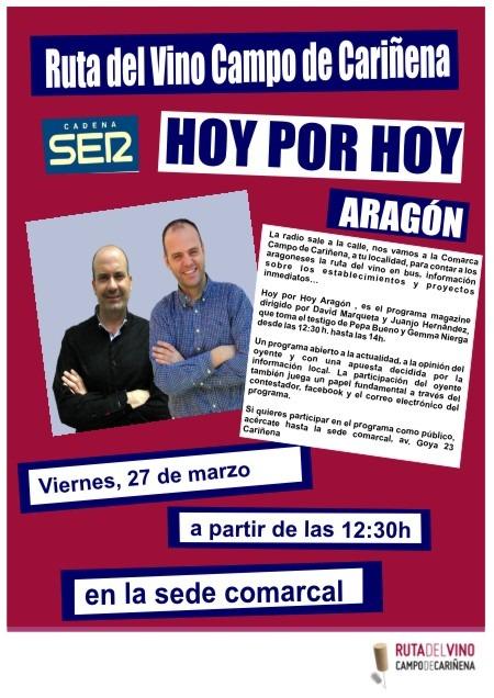 """Programa de radio """"Hoy por hoy Aragón"""" directo desde la Comarca Campo de Cariñena"""