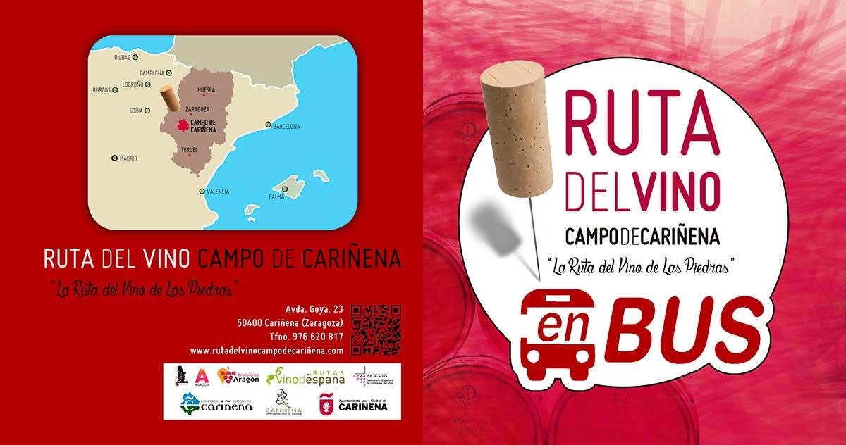 Ya están aquí los nuevos recorridos de la Ruta del Vino Campo de Cariñena «La Ruta del Vino de las Piedras» en BUS del 2016